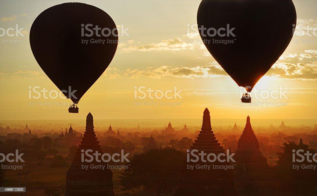 Myanmar dawn stock photo