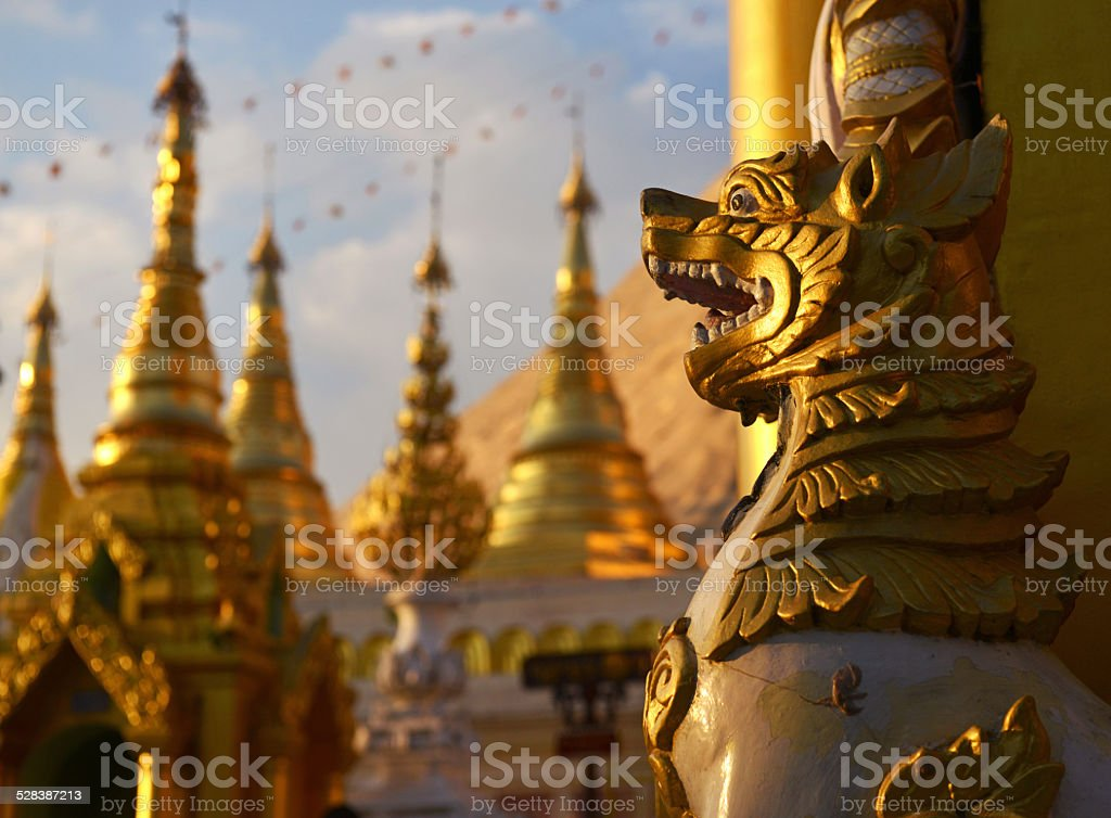Myanmar Lion stock photo