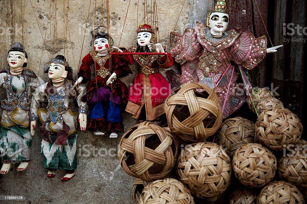 Myanmar Puppet market royalty-free stock photo
