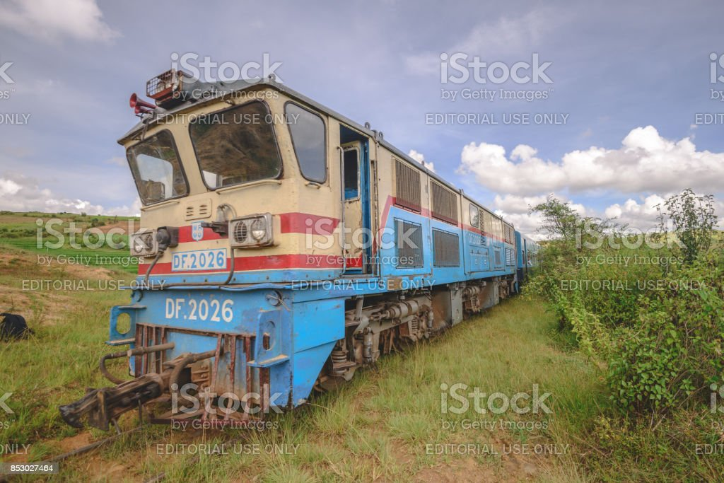 Myanmar rail stock photo