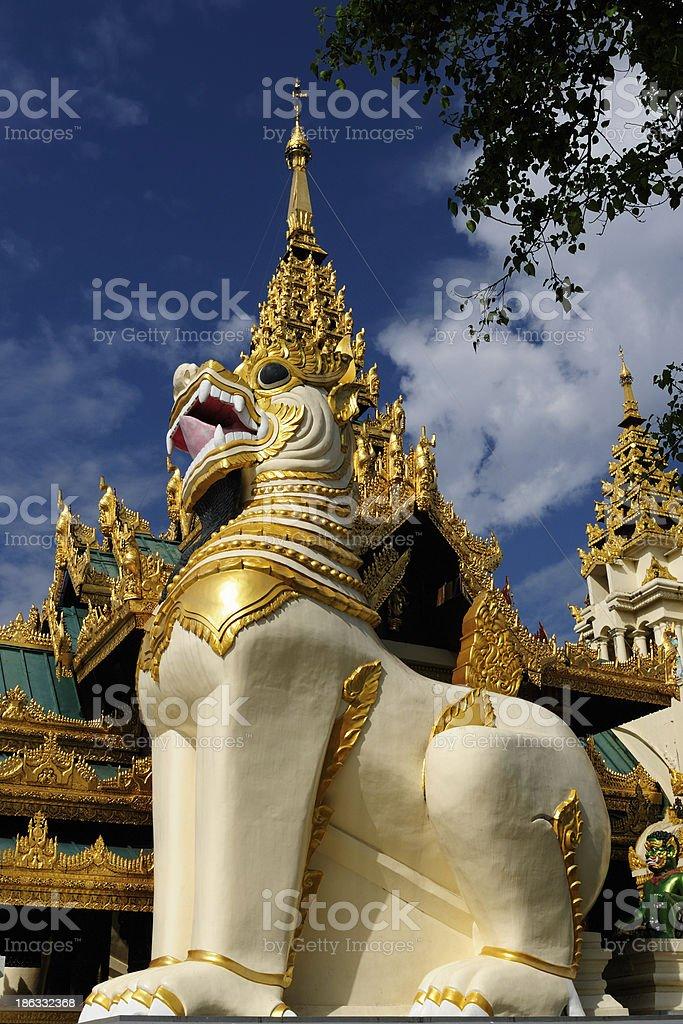 Myanmar (Burma), Shwedagon Paya in Yangon royalty-free stock photo