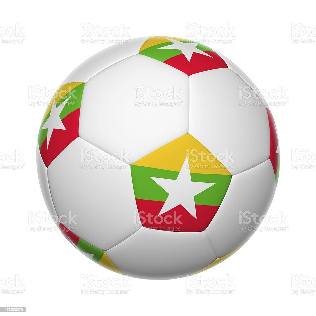 Myanmar soccer ball royalty-free stock photo