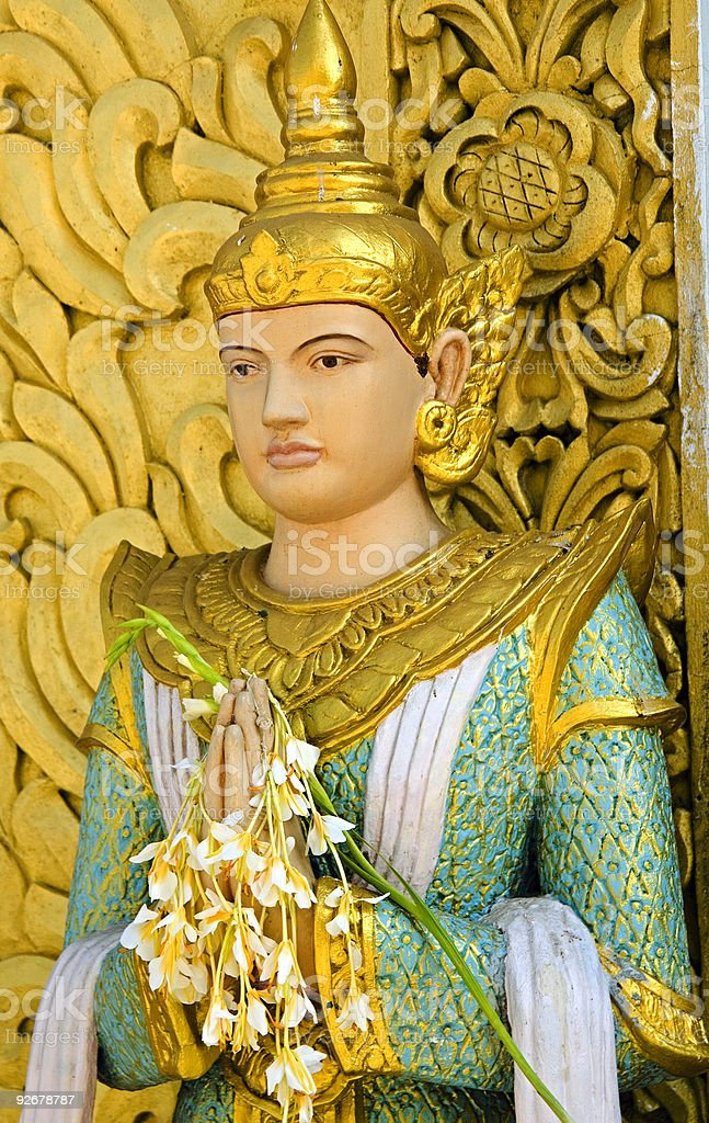 Myanmar: Statue of Nat (animist spirit) stock photo