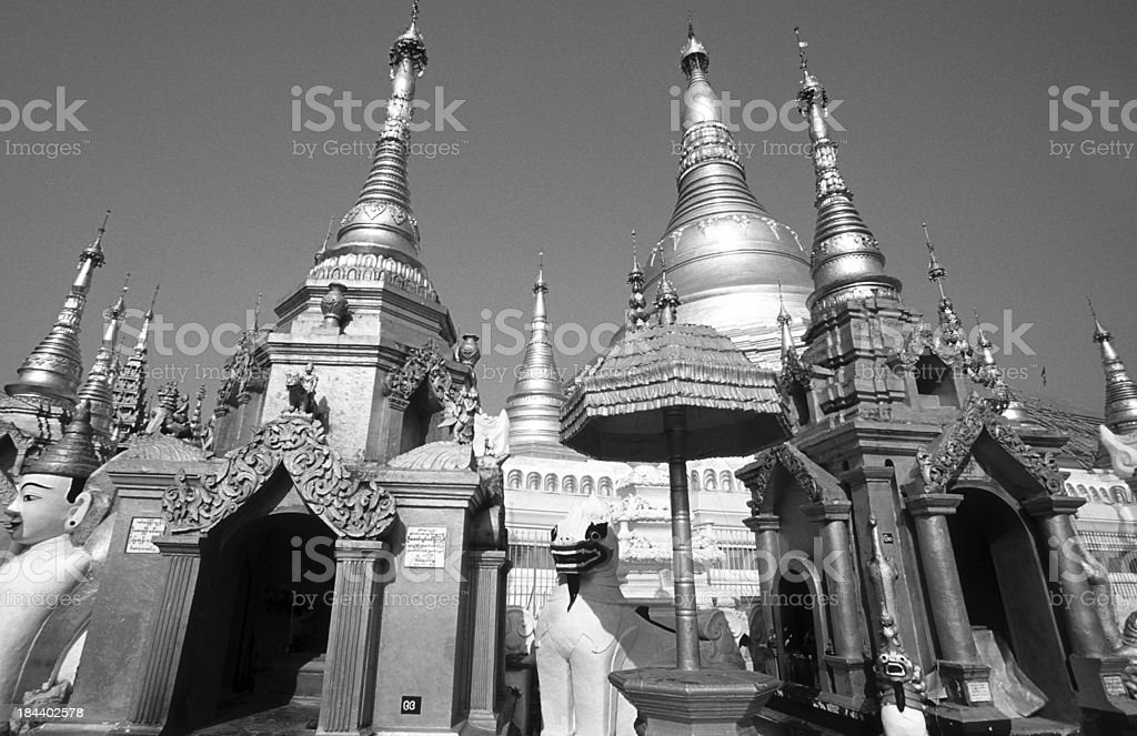 Myanmar, Yangon, Shwedagon, pagodas. royalty-free stock photo