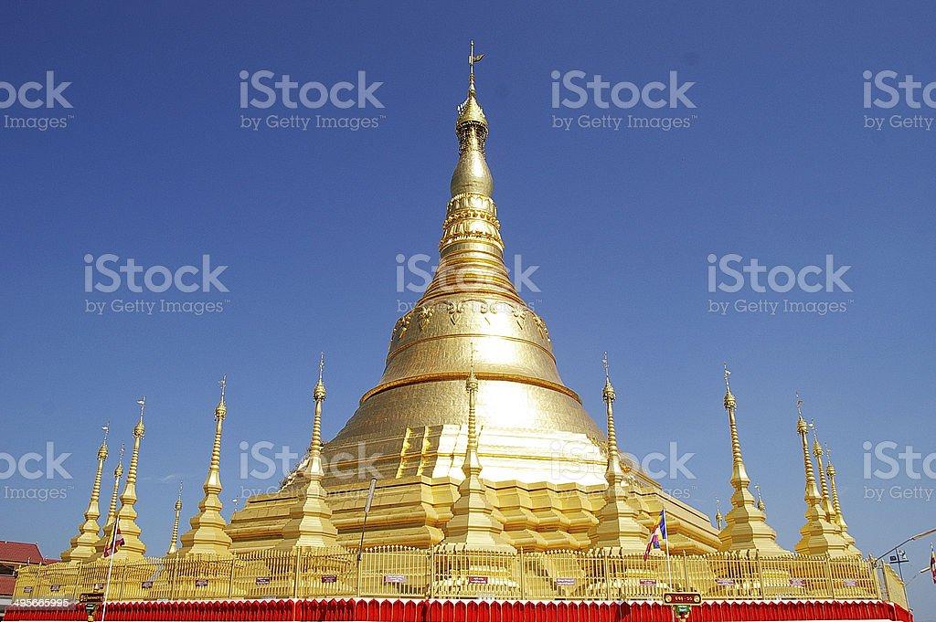 Myanmar,Shwedagon Pagoda replica stock photo