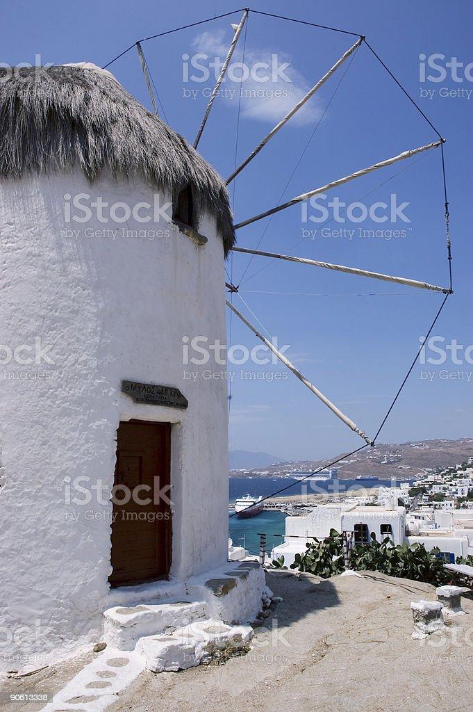 Mycanos Windmill royalty-free stock photo