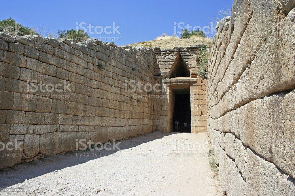 Mycenean Tomb royalty-free stock photo