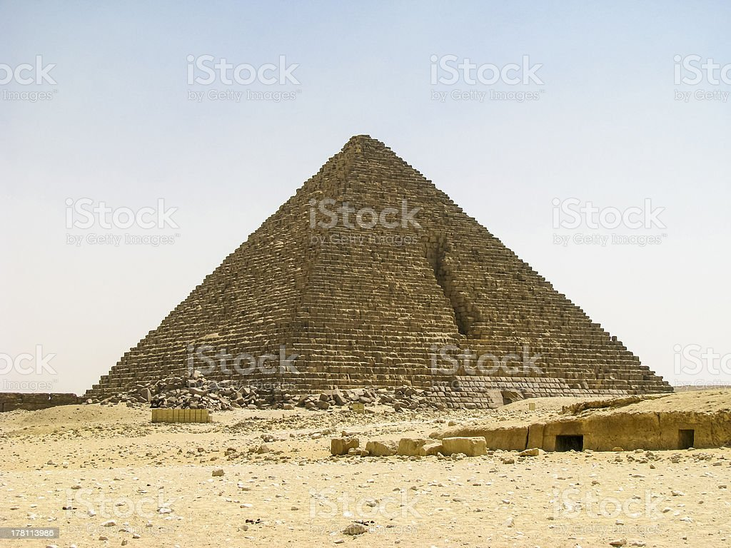 Mycerinus Pyramids stock photo