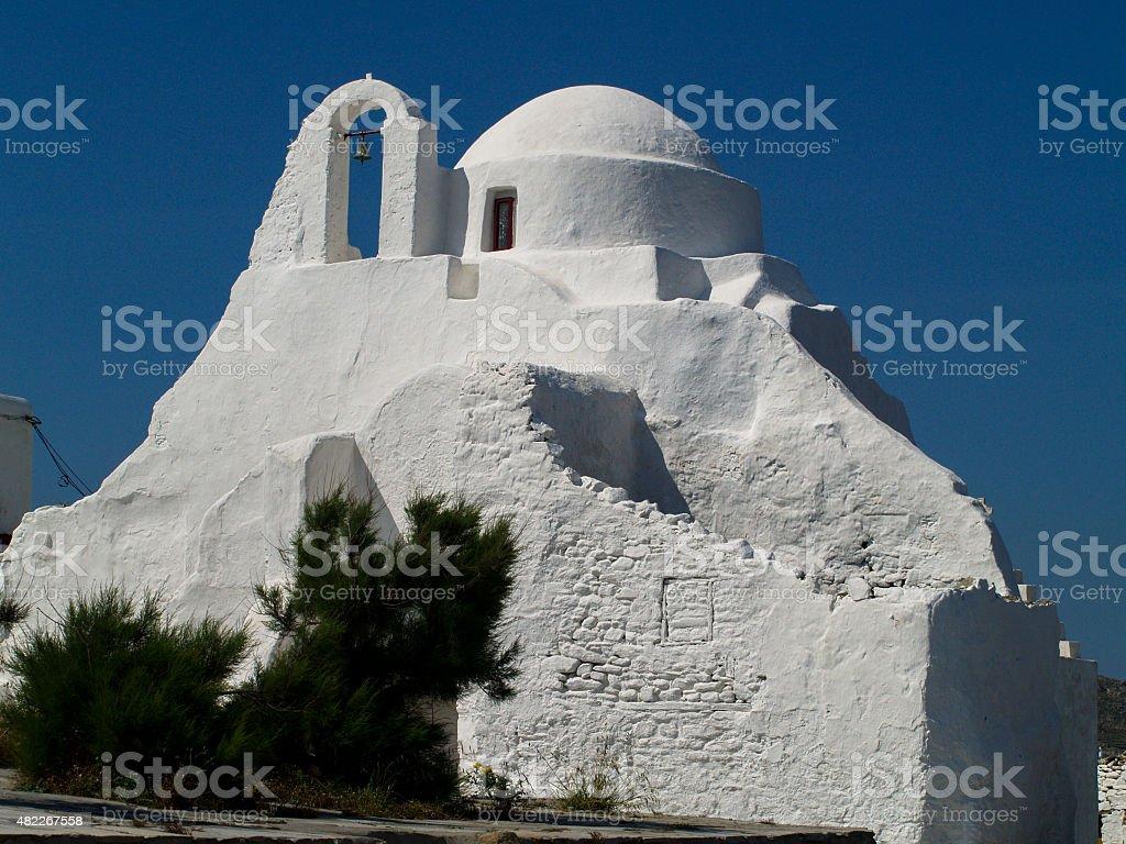 Myconos Orthodox Church stock photo