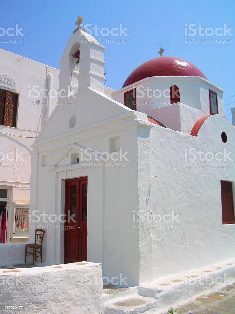 Myconos: Traditional Church stock photo