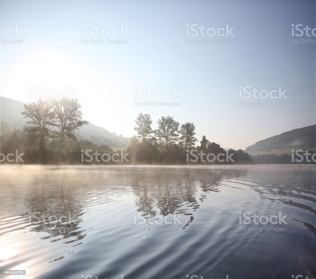 Myczkowce Lake stock photo