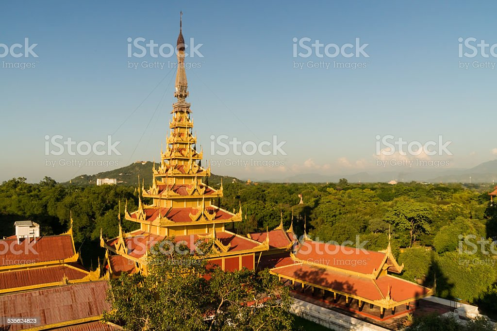 Myey Nan Taw, the Lion Throne room building stock photo