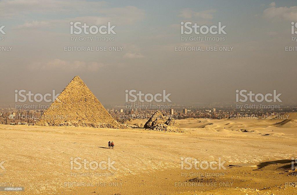 Mykerinos piramid in Giza royalty-free stock photo