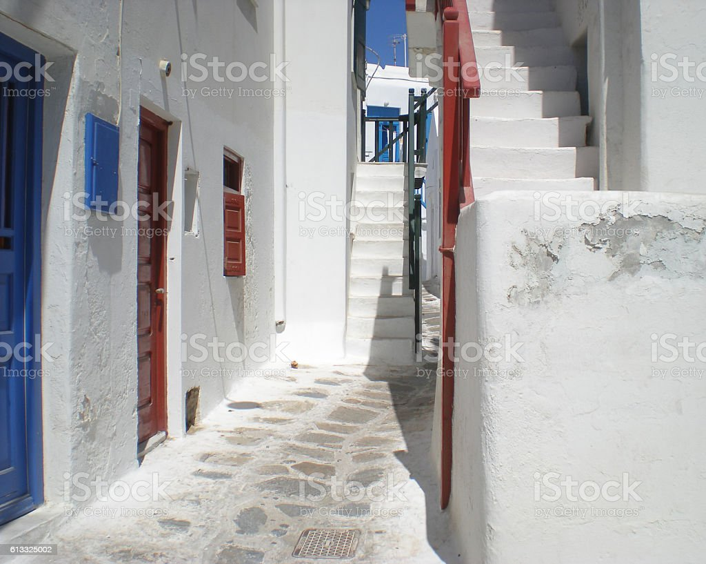 Mykonos Barkia stock photo
