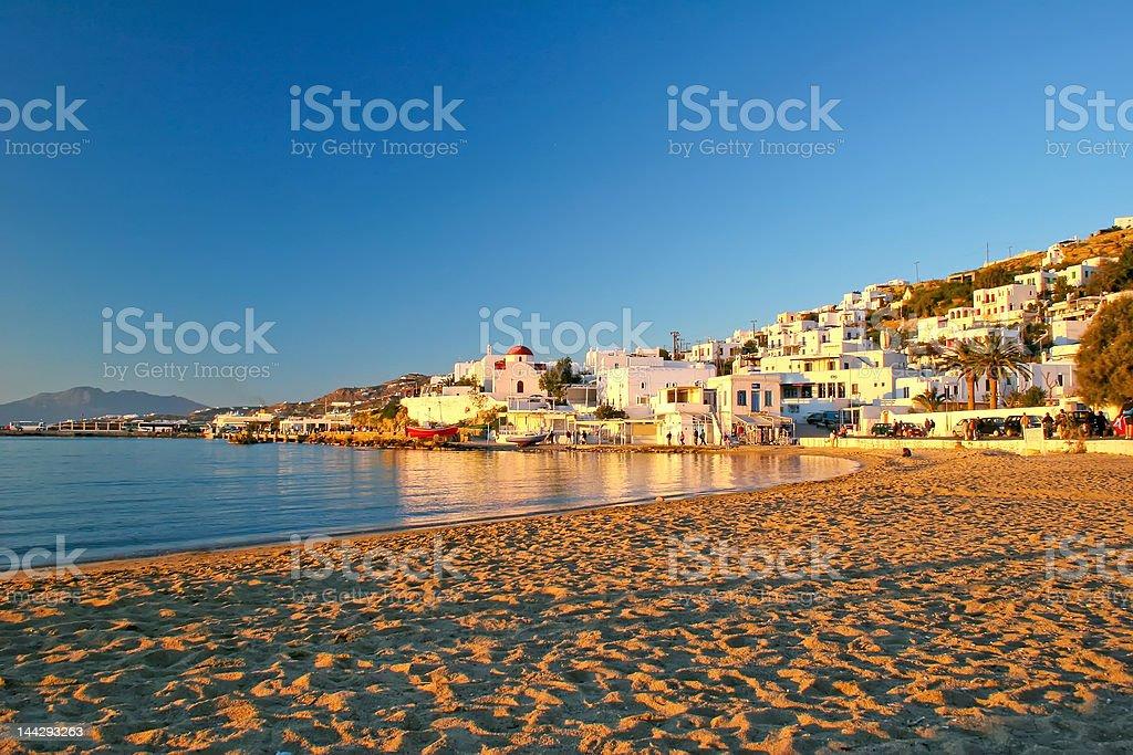 Mykonos Beach royalty-free stock photo