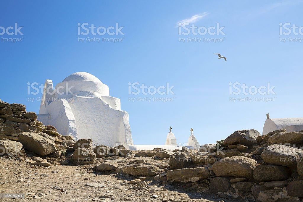 Mykonos, chapel, Greece stock photo
