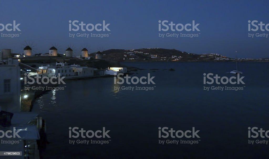 Mykonos dawn stock photo