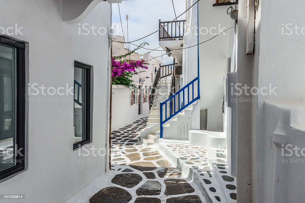 Mykonos, Greece - Typical Cyclades Architecture stock photo