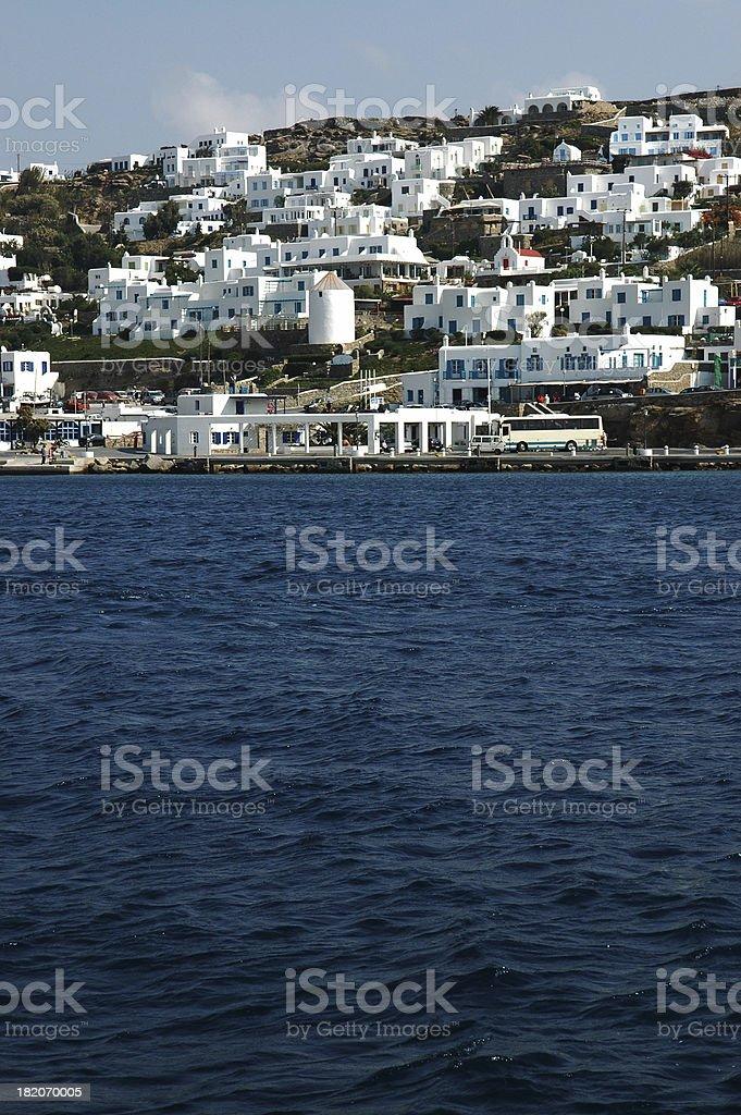Mykonos, Greece Waterfront royalty-free stock photo