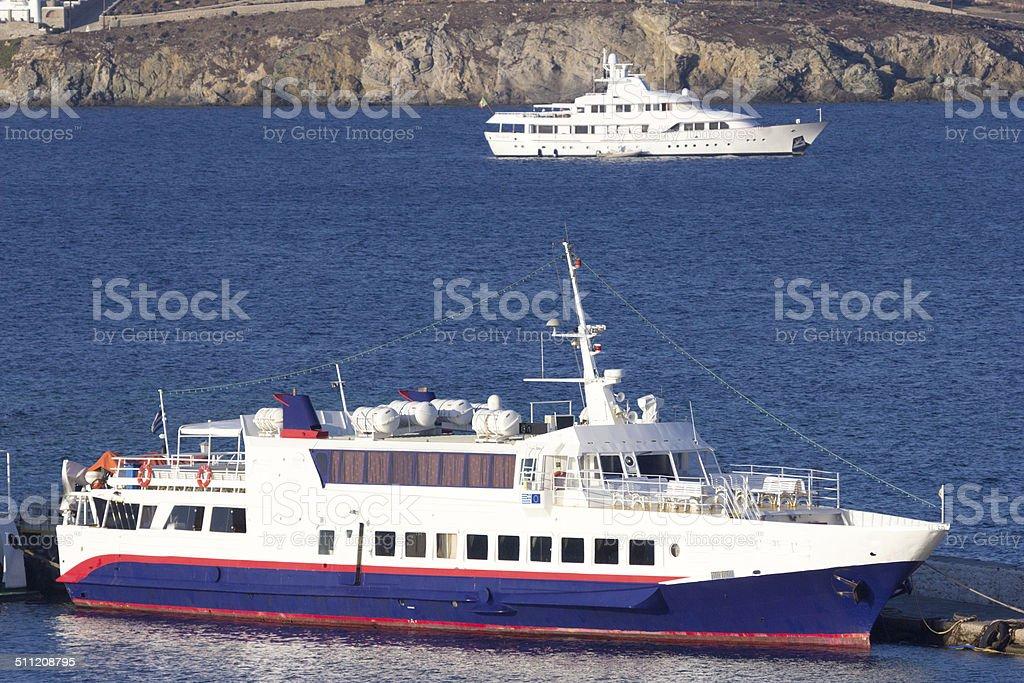 Mykonos in the Cyclades, Greece stock photo