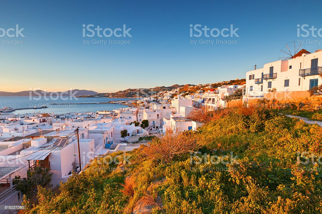 Mykonos island. stock photo
