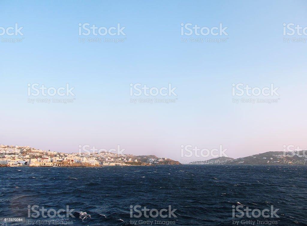Mykonos island stock photo
