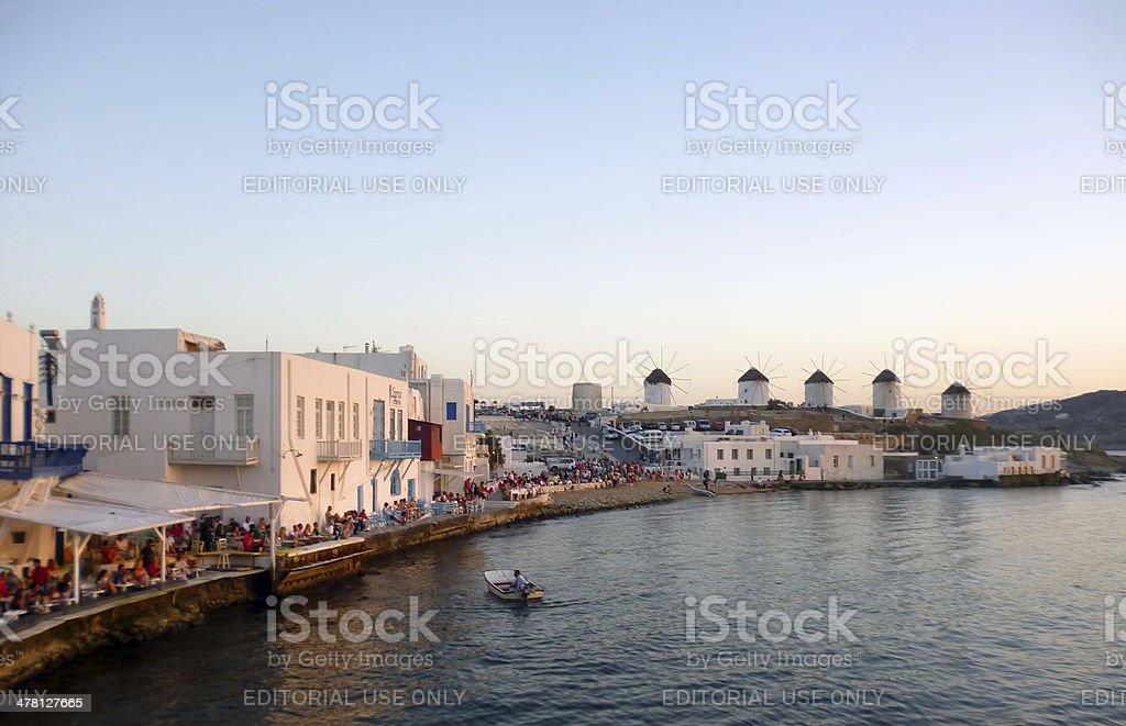 Mykonos Little Venice stock photo