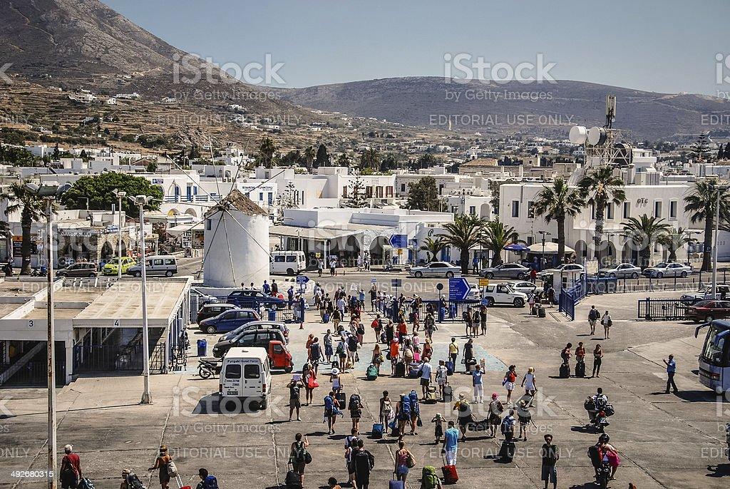 Mykonos Port royalty-free stock photo