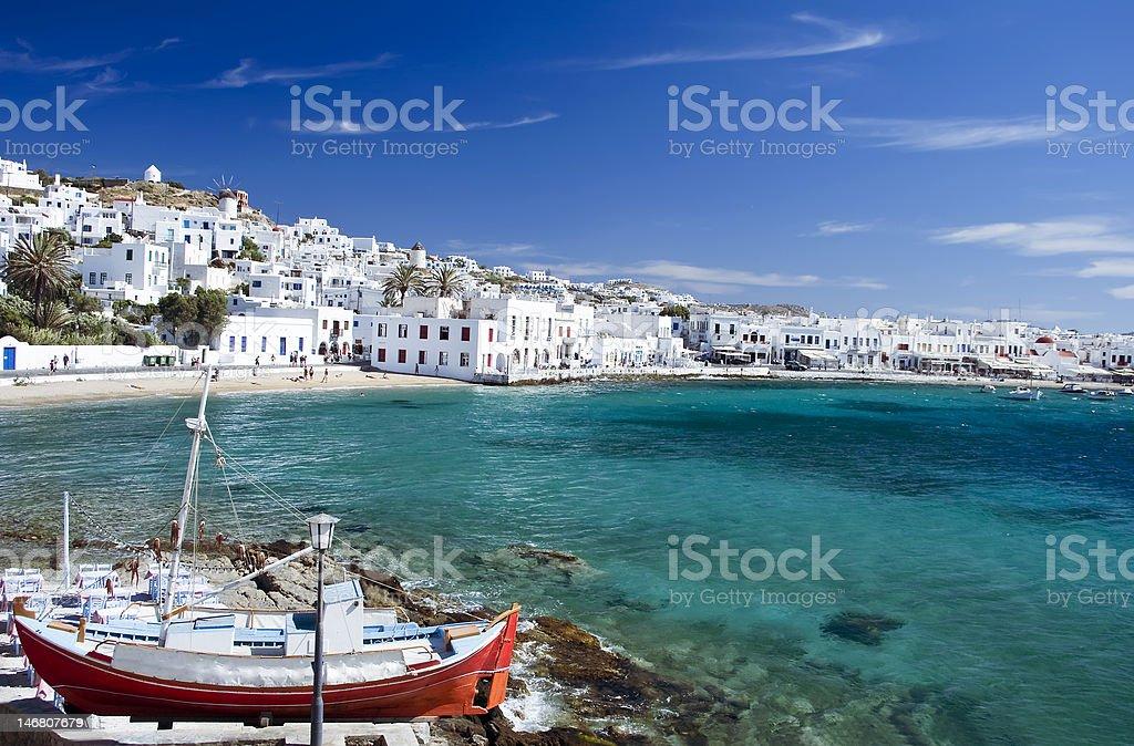 Mykonos Town stock photo