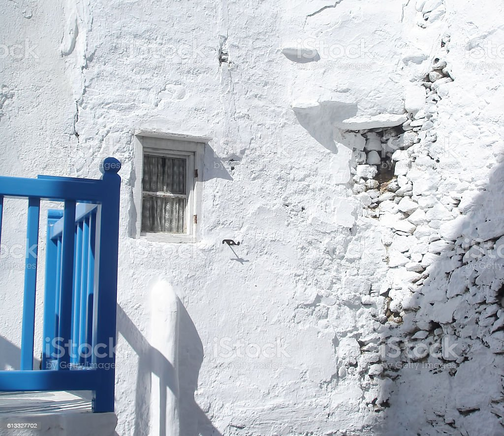 Mykonos vernacular architecture stock photo