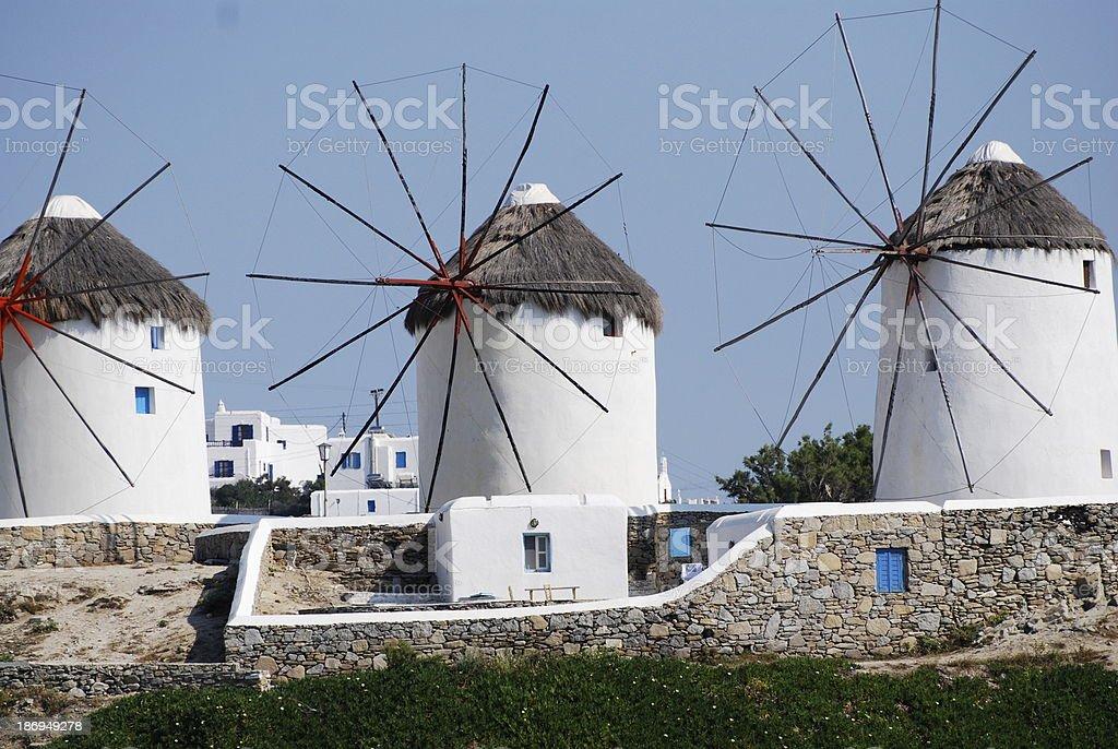 Mykonos Windmills royalty-free stock photo