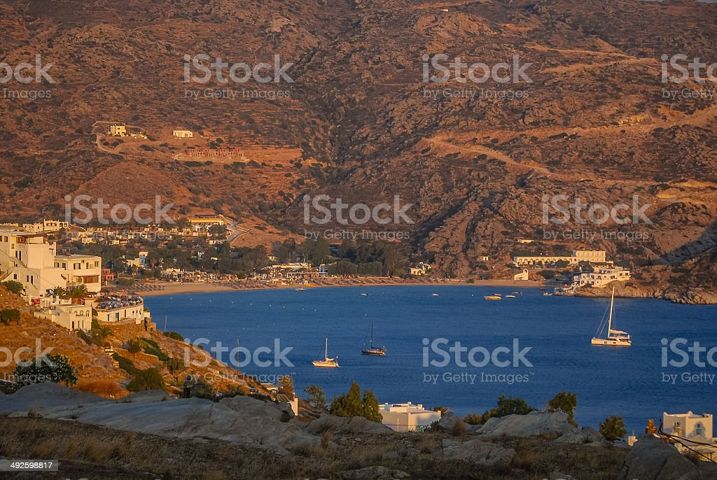 Mylopotas Beach - Ios, Greece stock photo