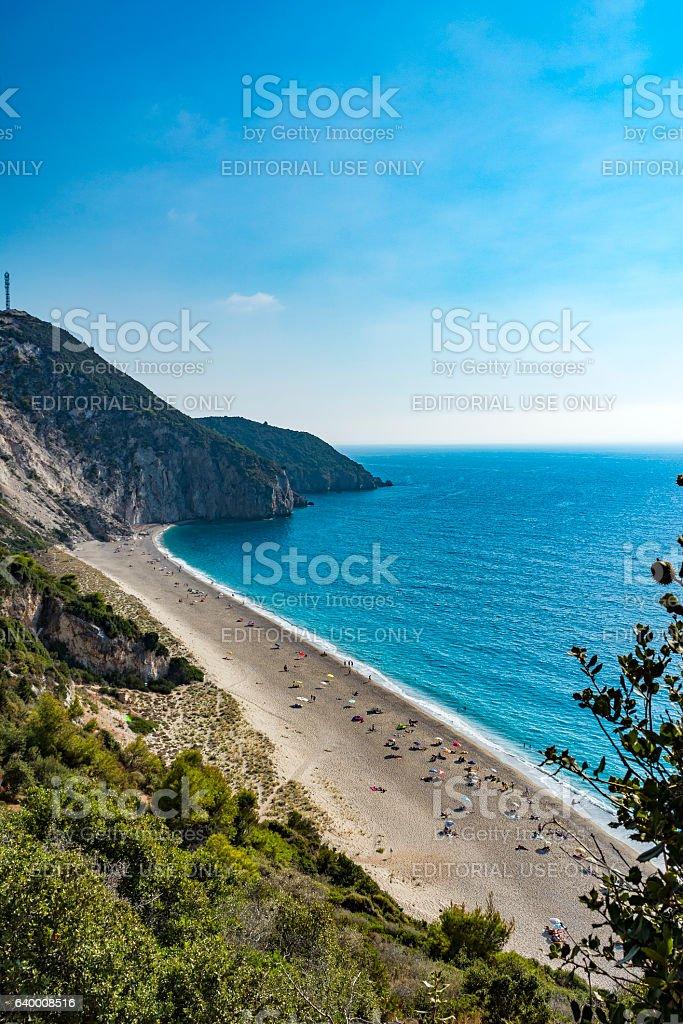 Mylos beach in lefkada, Greece stock photo