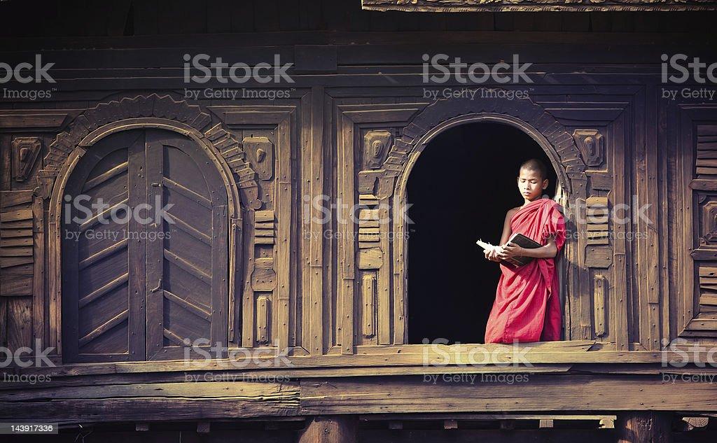 Myoe Daung Monastery, Myanmar stock photo