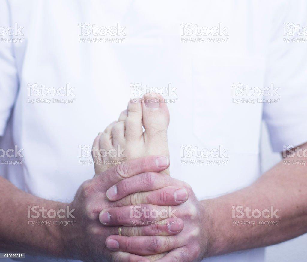 Myofascial osteopathy physiotherapy stock photo