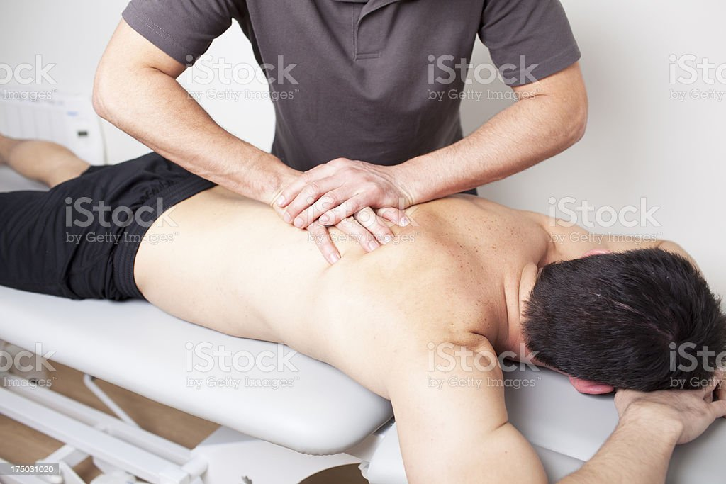 myofascial therapy stock photo