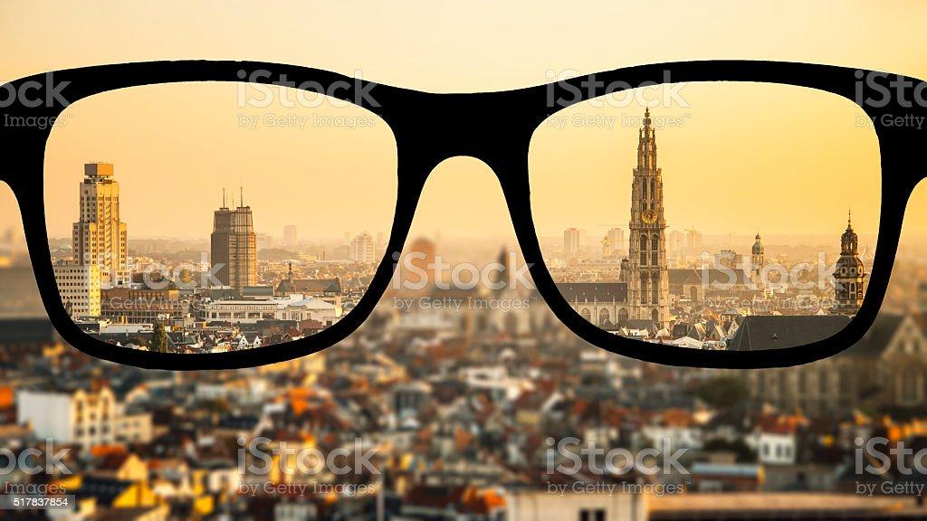 Myopia in Antwerp stock photo