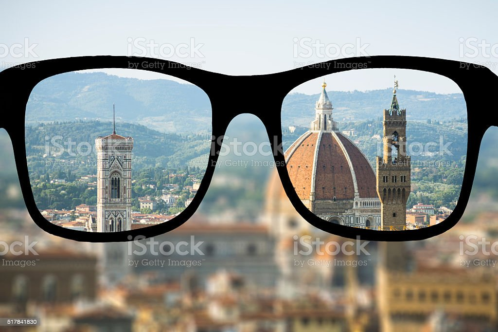 Myopia in Florence stock photo
