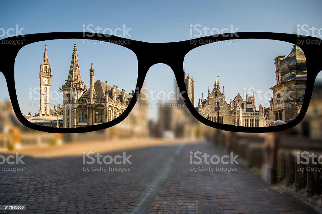 Myopia in Ghent stock photo