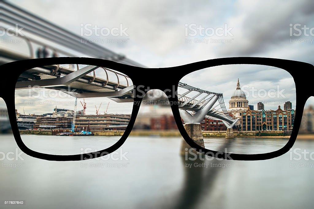 Myopia in London stock photo