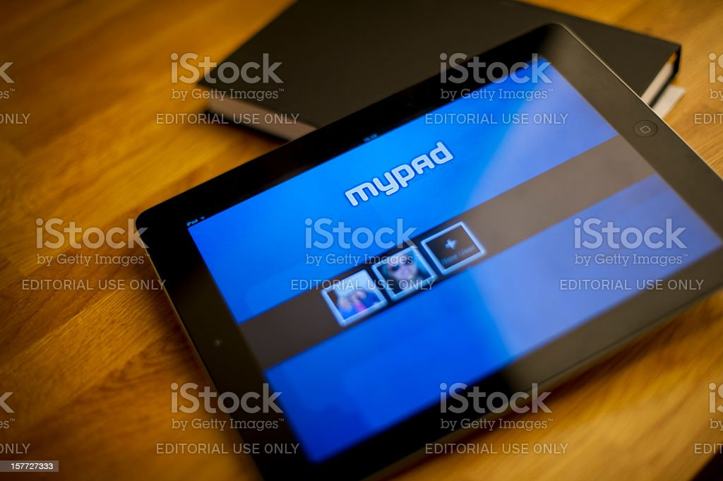 mypad application on iPad2 royalty-free stock photo