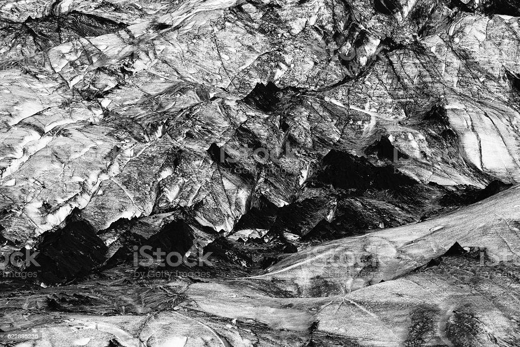 Myrdalsjokull Glacier in Iceland stock photo