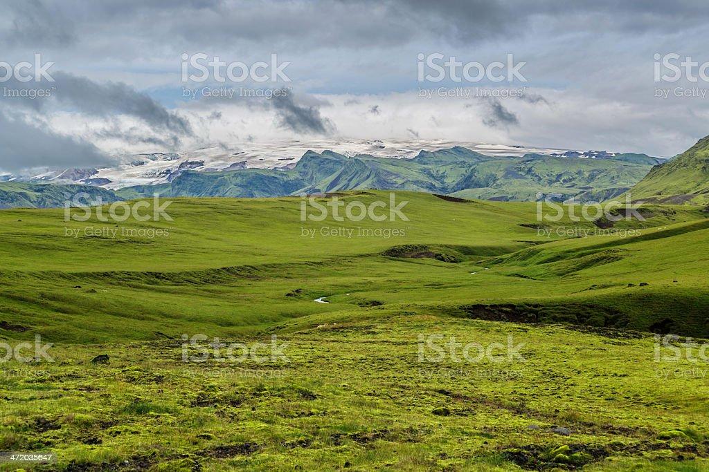 Myrdalsjokull royalty-free stock photo