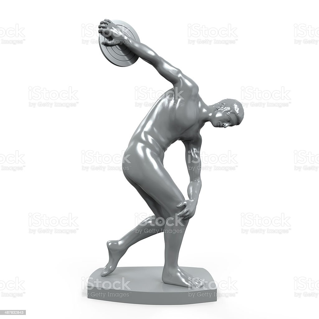 Myron Statue Isolated stock photo