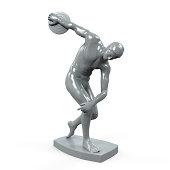 Myron Statue Isolated