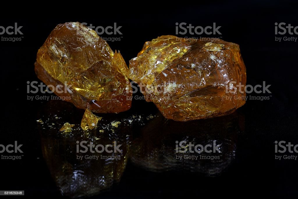 Myrrh resin stock photo