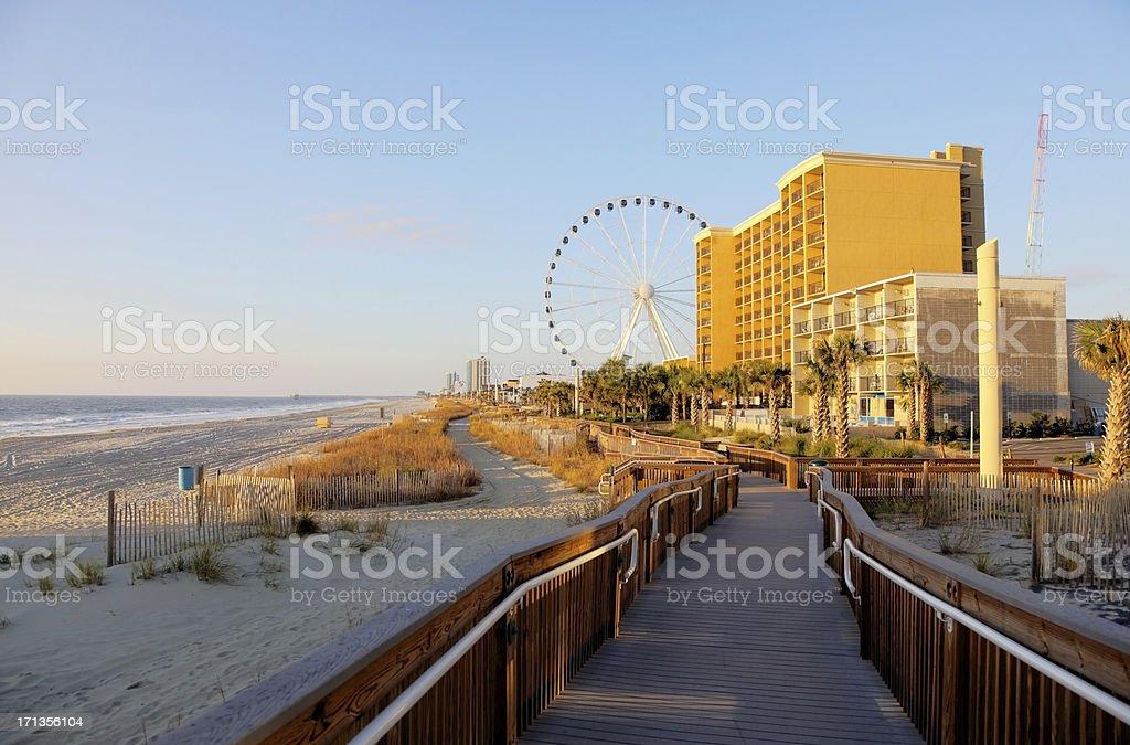 Myrtle Beach Oceanfront stock photo