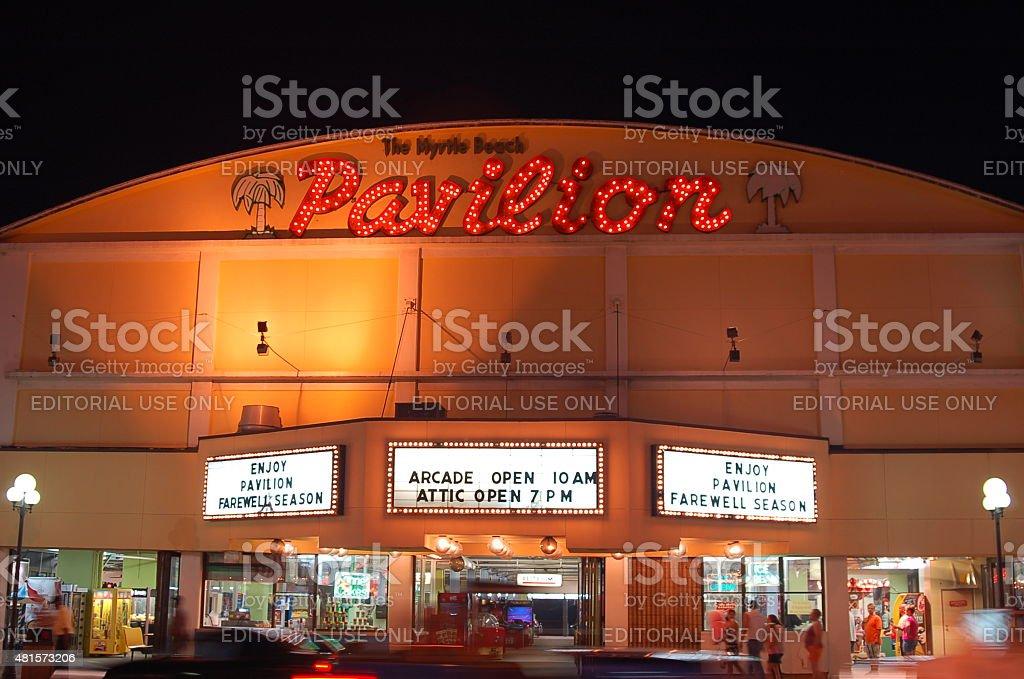 Myrtle Beach Pavilion which no longer exists stock photo