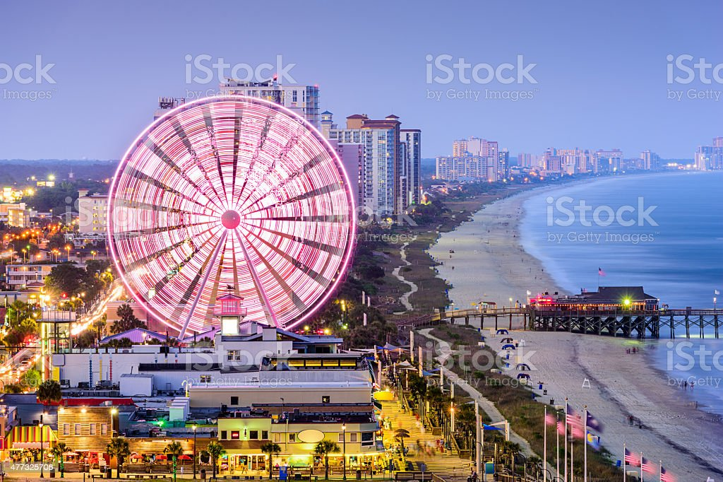 Myrtle Beach Skyline stock photo
