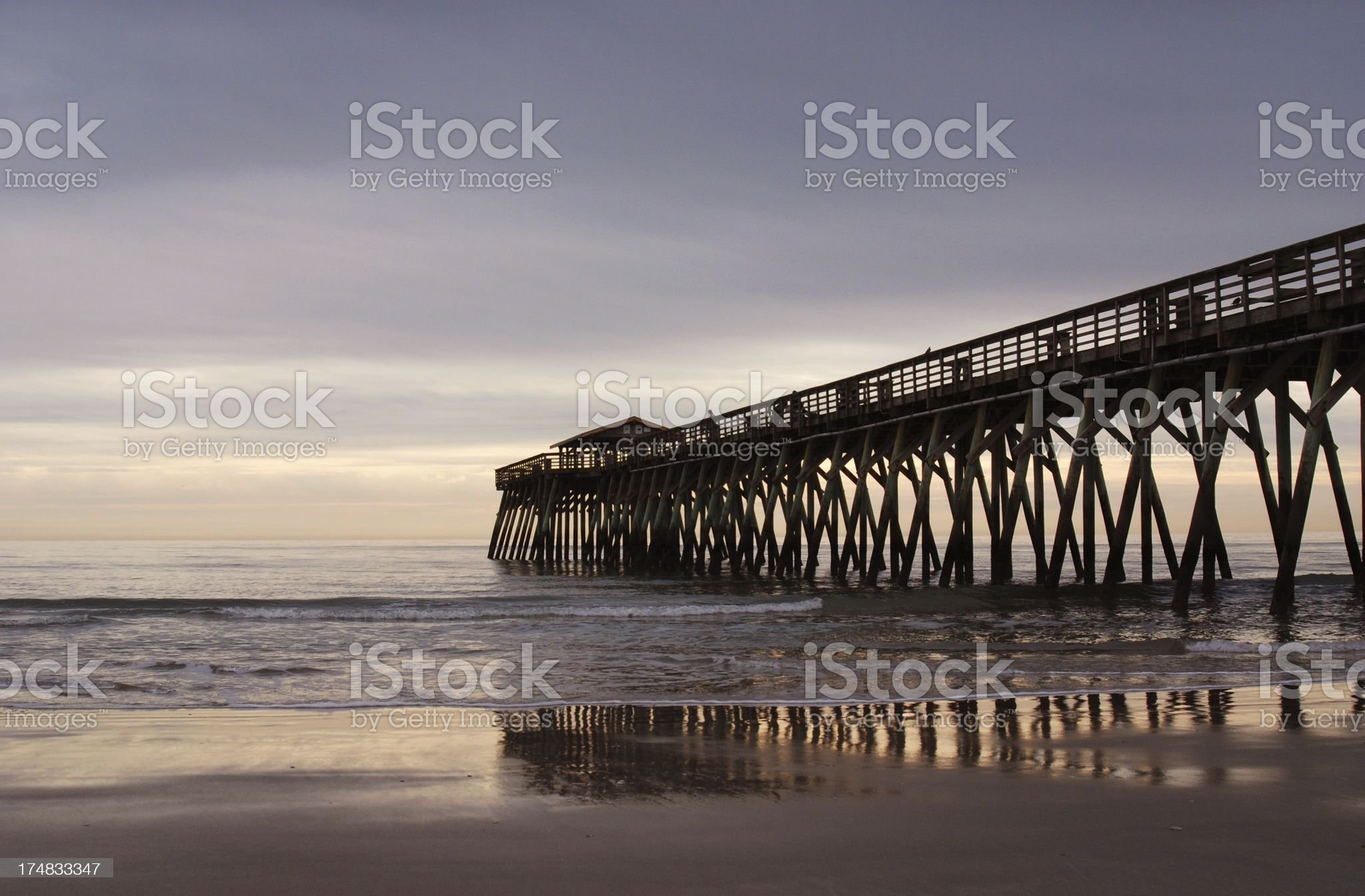 Myrtle Beach State Park Pier royalty-free stock photo